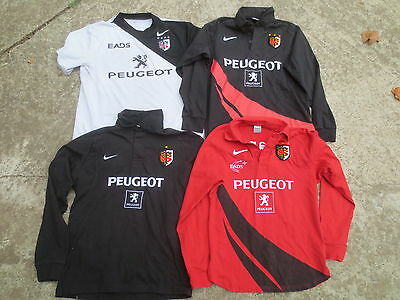 Lot 4 Maillot rugby STADE TOULOUSAIN vintage NIKE coton shirt Toulouse