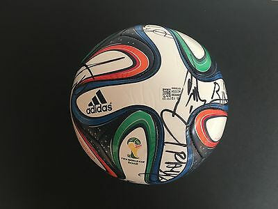 Ivory Coast Signed Brazuca World Cup Football 2014+Photo Proof*see Players Sign*