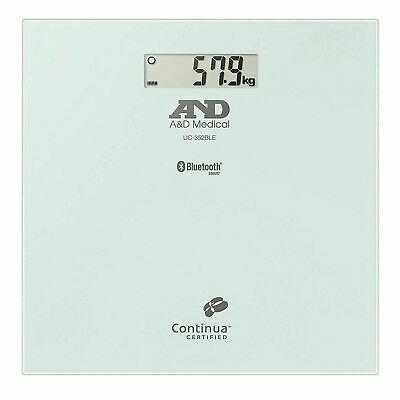 A&D Medical Bathroom KG LB Weight Scale with Bluetooth Low Energy Connectivity