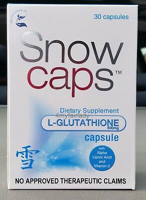 Best Glutathione Snow Caps 30 Caps Anti Oxidant Boost Immune Sys Skin Whitening