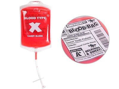 Kunst-blut Infusions-Beutel Horrorblut Halloween P025/145 Candy Blood trinkbar