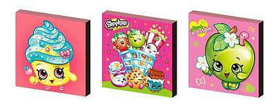 Shopkins Canvas Art Blocks/ Wall Art Plaques/pictures