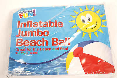 Outdoor Fun! Inflatable Jumbo Beach Ball 76cm New