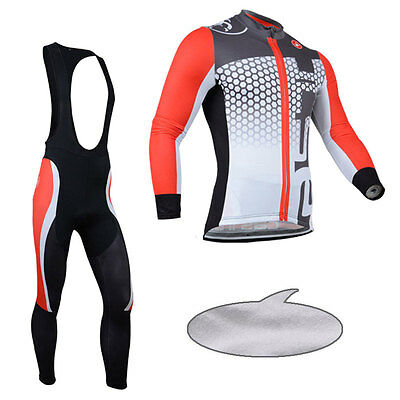 Cycling Bike Winter Bicycle Clothing Sports Suit Jersey Bib Pants Thermal Fleece