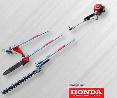 Real Honda GX35 Shoulder 3 in 1 Brush Cutter/Pole Chain Saw/Pole Hedge Trimmer!!