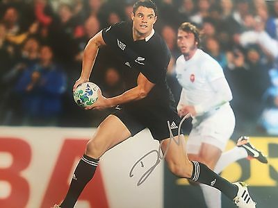 DAN CARTER SIGNED HUGE 12 x18 NEW ZEALAND ALL BLACKS RUGBY PHOTO
