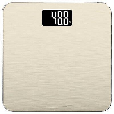 Electronic Bathroom Scale in Tempered Glass with Advanced Step-On Technology