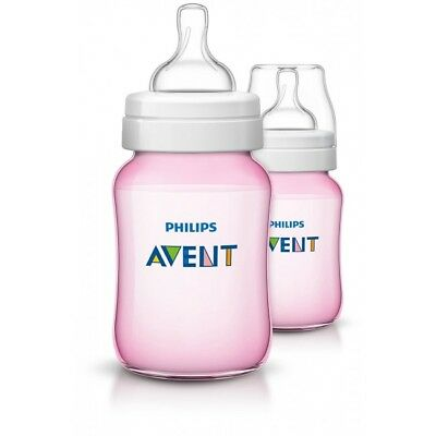 Philips Avent Classic+ Anti-Colic Baby Feeding Bottle 260ml x 2 - Pink SCF564/27