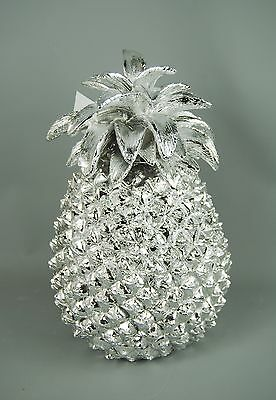 Quirky Modern Silver Pineapple Table Decoration Ornament