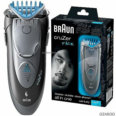 Braun CruZer6 Face All-In-One Electric Shaver Plus Styler & Trimmer Wet and Dry