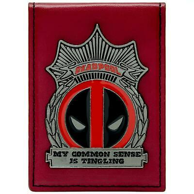New Official Awesome Deadpool Id Badge Style Bi-Fold Card Holder *brand New*