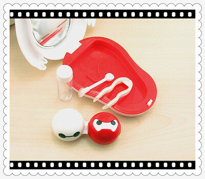 Pocket Big Baymax Contact Lens Case Travel Kit US Pupil Container Storage Box