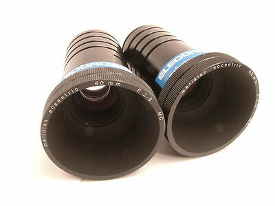 Stereoscopic Projection lens pair: Meridian 60mm f2.8 Eccentric shift Stereo set