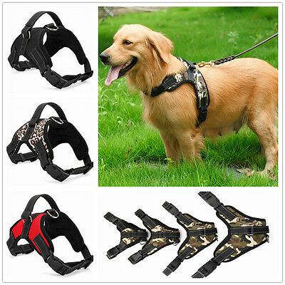 Large Puppy Dog Pet Harness Vest Collar Adjustabl Soft Nylon Walk Out Hand Strap