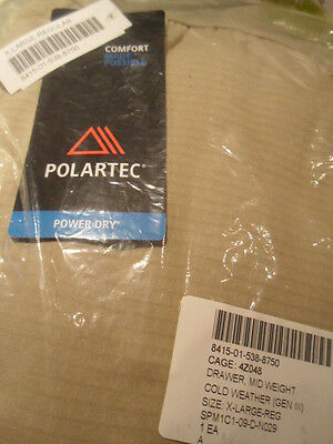 Polartec GEN III Level 2, sand - coyoty- mid weight cold weather""
