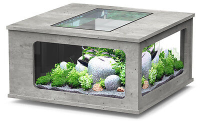 AQUARIUM TABLE BASSE TABLE AQUARIUM ASPECT BETON 307 LITRES Réf Z3086980