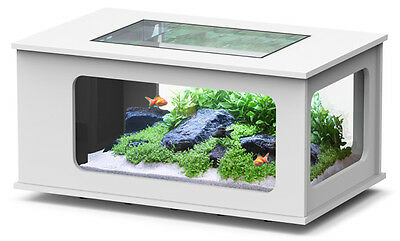 AQUARIUM TABLE BASSE TABLE AQUARIUM BLANC 313 LITRES Réf Z3087120