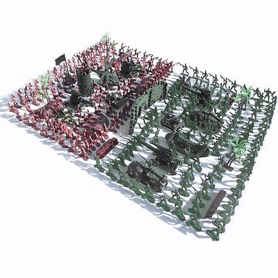 270Pcs Military Soldiers Toy Kit Army Men Figures & Accessories Model For Sand B