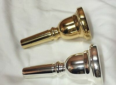 New Tuba Mouthpiece Handcrafted - Available In Silver & Gold Plated!!