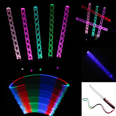 LED Magic Wand Multi Color Changing Flash Party Concert Neon Glow Light Stick Ne