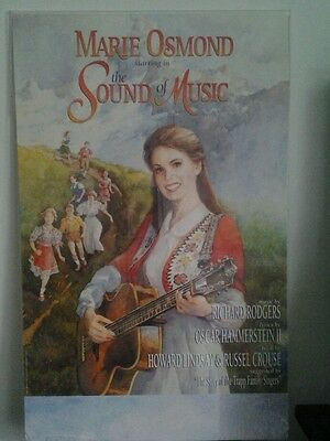 MARIE OSMOND IN THE SOUND OF MUSIC BROADWAY THEATER WINDOW CARD  22x14 USED