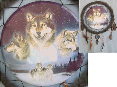 14In Wolf Pack w Faux Arrow Head Dream Catcher Reproduction