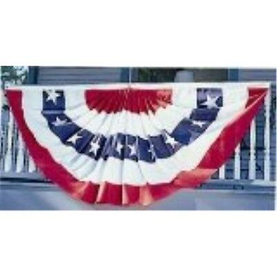 Valley Forge Flag 3 x 6 Foot Polycotton Stars and Stripes Pleated Full Fan Flag