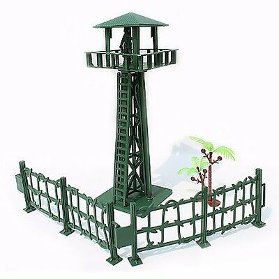 Watchtower Military Fence Tree Soldier Playset Toy Army Men Accessory For Sandbo