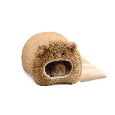 Plush Hammock For Ferret Rabbit Rat Cat Hamster Warm Hanging Bed Bear Toy House