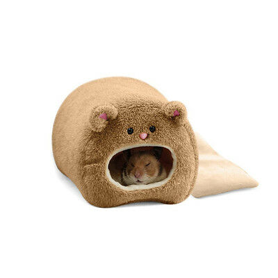Plush Hammock For Ferret Rat Cat Hamster Warm Hanging Bed Bear Toy House