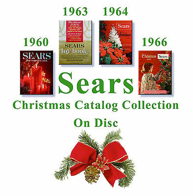 1960, 1963, 1964, 1966 Sears Christmas Catalogs on Disc