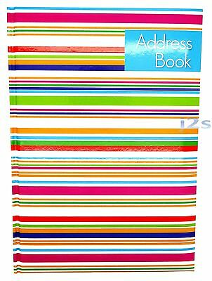 Colourful Stripes Designer A-Z A5 Telephone Contact Address Book Special Offer
