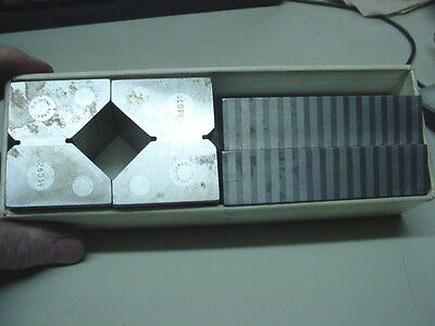 """FISHER No 14 Precision Grinding Magnetic 2"""" V Block Matched Set Parallels USA"""