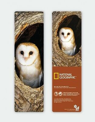 National Geographic 3-D Bookmark - Barn Owl