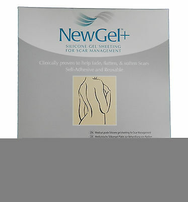 """NewGel+ Silicone Gel Sheeting 1"""" x 6"""" Silicone Strips For Scars Clear (4 Strips)"""