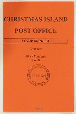 1996 $4.50 Christmas Island Emergency Red Booklet Last Day of Issue 28 October