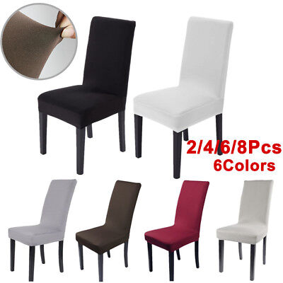 2/4/6/8pcs Stretch Dining Chair Cover Removable Slipcover Dinning Seat Cover