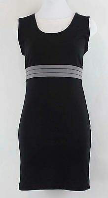 d281e9865c Planet Gold Couture Sz M Black Gray Sleeveless Fitted Polyester Dress B141