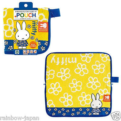 New Dick Bruna Miffy Zipper Towel Pouch Yellow For Makeup Cosmetic