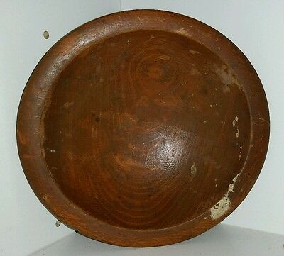 "Woodcroftery Wood Crafted Wood Bowl  Out Of Round 6"" X 6 1/2"" Used Patina"