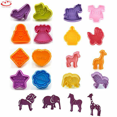 24 Chocolate Cake Fondant Decorating Plunger Cookie Cutter Mold Sugarcraft Tools