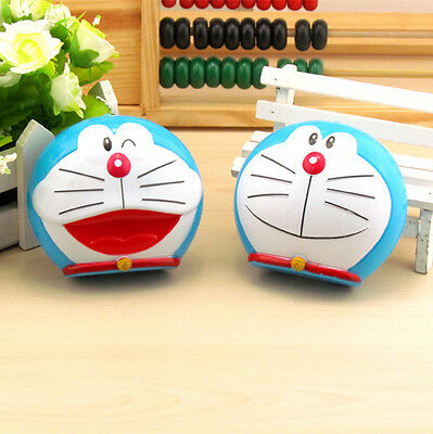 Lovely Doraemon Contact Lens Case Travel Kit Tweezer Mirror Stick Container Box