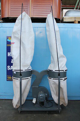 Used Hafco Woodmaster 2 Bag Dust Collectors With 2 Poles