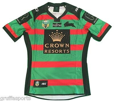 South Sydney Rabbitohs 2016 Players Home Jersey Sizes M - 2XL Adults NRL ISC