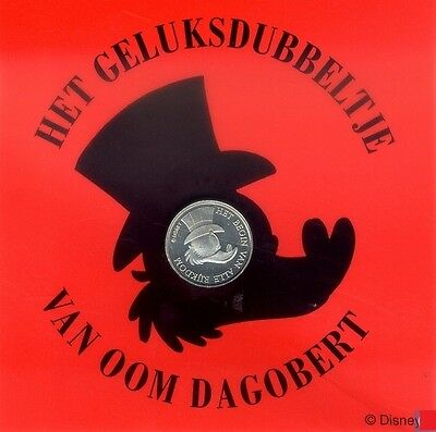 Extremely Rare! Disney Uncle Scrooge Geluksdubbeltje (Dutch First Cent) Coin