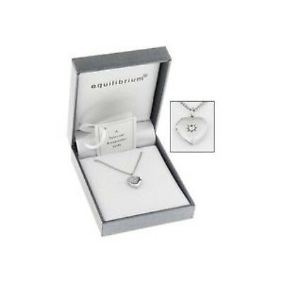 Equilibrium Silver Plated Necklace Heart Locket Christening Childs Bridesmaid UK