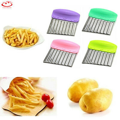 Stainless Steel Potato Chip Dough Vegetable Crinkle Wavy Cutter Blade Tool