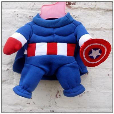 Captain America Dog Puppy Costume Outfit
