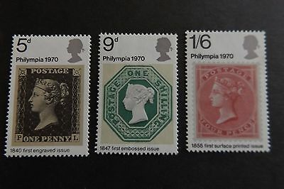 GB MNH STAMP SET 1970 Philympia SG 835-837 10% OFF ANY 5+