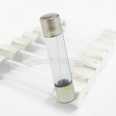 20 x 5A Amp 250V 5000mA 6 x 30mm Quick Fast Blow Glass Tube Fuse Fast Blow RoHS